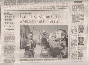 Colby's Newspaper Debut 2009